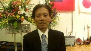 台北駐大阪経済文化弁事処 陳処長(インタビューにて)