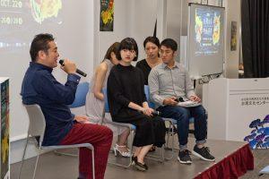 映後座談會(左起知名製片夏原健、導演徐子悅和導演陳柏宗)