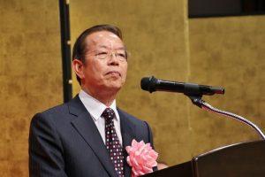 駐日代表謝長廷致詞感謝日本官房長官菅義偉為台灣參與國際組織而發聲