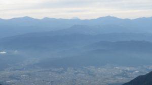 從千疊敷山谷遠眺富士山