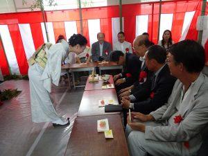 來賓前往茶道教室體驗日本文化