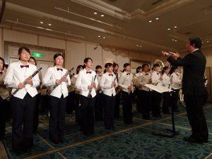 管樂名校的京都兩洋高校管樂團精彩演奏為國慶酒會增添風采