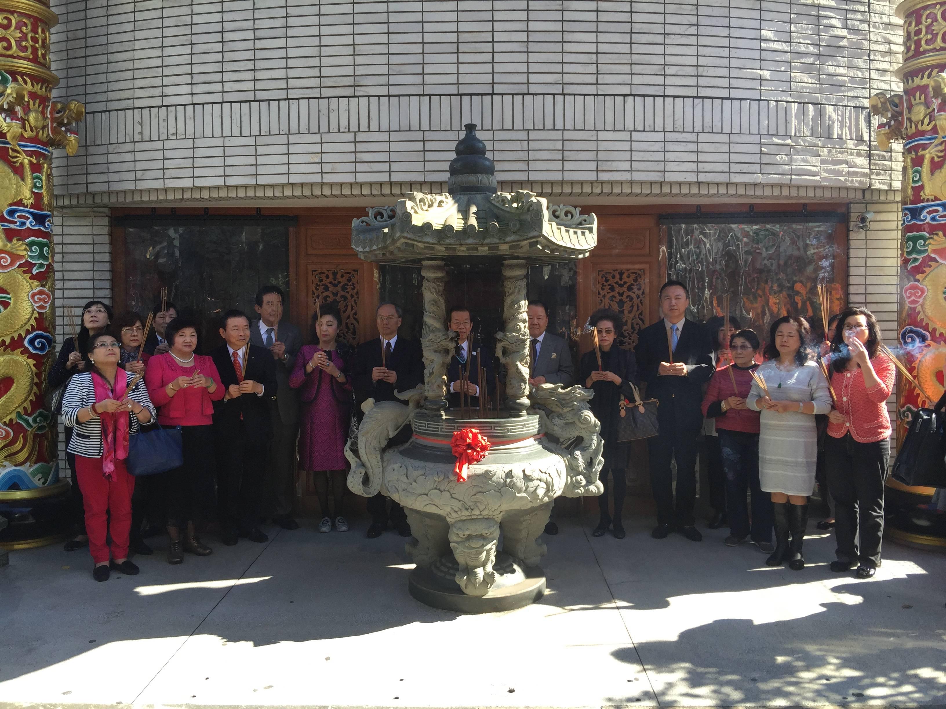 謝長廷 吳新興 訪東京媽祖廟 感佩僑界傳承媽祖文化