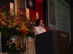 在日台灣不動產協會會長錢妙玲致詞
