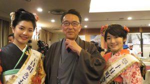 十日町市長關口芳史向台灣觀光客推薦十日町
