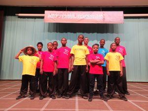 アフリカ・レソト王国の孤児11人による日本感謝の公演