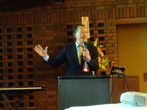 駐大阪辦事處僑務組組長黃水益應邀以「台灣的現況、台灣與日本的新交流」為題演講