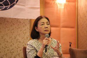日本台灣商會聯合總會總會長新垣旬子參與東京台灣商工會青商部會議和懇親會