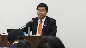 台北駐福岡経済文化辦事處の戎義俊處長(総領事)