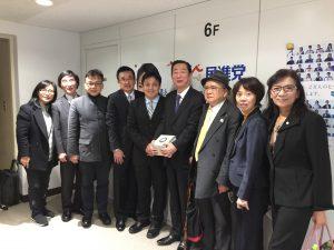 國民黨文傳會副主委李明賢率團訪日,拜會日本政黨和議員