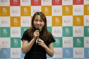 中華民國東京同學會會長陳瀅致詞,感謝各界對留學生的照顧