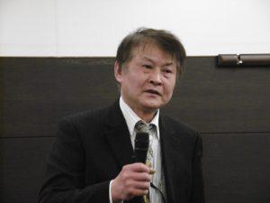 余玉隆副會長提出人材 人材 人財 三階段勉勵學員