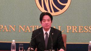 講演中の頼清徳台南市長