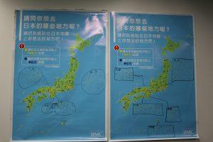 2016年台北國際旅展期間所進行的調查,去過的地方和最想去的地方